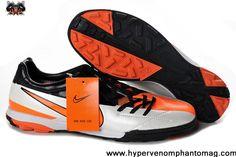 Nike T90 Shoot IV TF Orange Silver Black Football Shoes On Sale