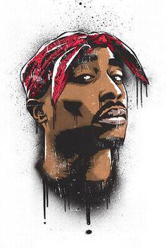 Art-Poster Rap and hip-hop - Tupac, by Bokkaboom Tupac Shakur, Hd Wallpaper Für Iphone, 2pac Wallpaper, Blood Wallpaper, Desktop Wallpapers, Arte Do Hip Hop, Hip Hop Art, Arte Lowrider, Tupac Art