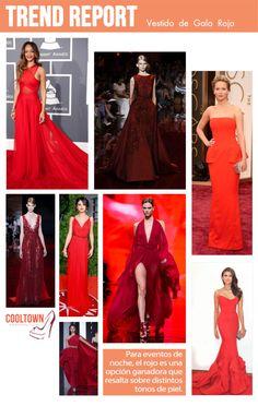 rojo de gala, red, dresses. Moda para Guatemala y El Salvador