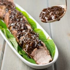 Pork Tenderloin with Balsamic Dijon Mustard Sauce
