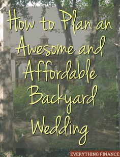 Having an affordable backyard wedding is possible with a little planning and creativity. Learn how to host a fun backyard wedding with these tips! wedding tips How to Have an Awesome and Affordable Backyard Wedding Free Wedding, Plan Your Wedding, Budget Wedding, Perfect Wedding, Wedding Affordable, Low Cost Wedding, Wedding Prep, Affordable Art, Wedding Planning Tips