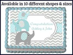 elephant cake baby shower