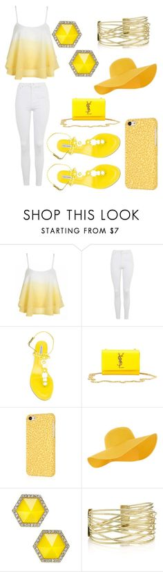 """""""Untitled #24"""" by ashantismith51068 ❤ liked on Polyvore featuring Topshop, Tabitha Simmons, Yves Saint Laurent, Accessorize and ABS by Allen Schwartz"""