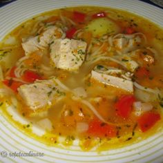 'Peasant' pork and vegetables soup recipe Bread Soup, Vegetable Soup Recipes, Romanian Food, Bowl Of Soup, Soups And Stews, Soul Food, Food To Make, Food And Drink, Cooking Recipes