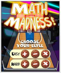 Fun Free Computer Games: Math Madness - The Elementary Math Maniac