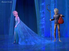 Jack, you're on my cape - elsa-and-jack-frost foto