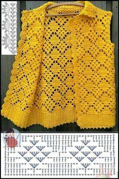 Crochet Bolero Pattern, Gilet Crochet, Crochet Cord, Crochet Shirt, Crochet Jacket, Crochet Stitches, Crochet Flower Tutorial, Crochet Baby Clothes, Baby Knitting Patterns