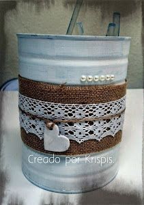 Tin Can Crafts, Diy Home Crafts, Crafts To Make, Recycled Tin Cans, Donut Decorations, Aluminum Cans, Diy Bottle, Mason Jar Crafts, Creative Gifts