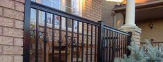 Beautiful designed black railings