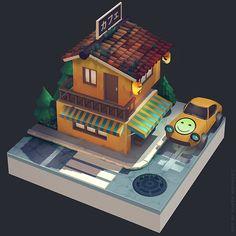 house 1, Olga Orlova on ArtStation at https://www.artstation.com/artwork/lrl0a