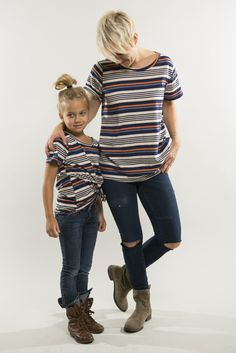 Striped Tee #mom-and-me #mommy-and-me #stripe-tee
