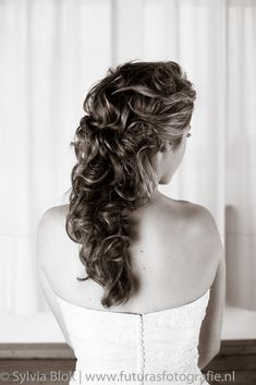 Hair and make up The Beautiful Bride Company Half Updo, Beautiful Bride, Updos, One Shoulder Wedding Dress, Wedding Hairstyles, Dreadlocks, Wedding Dresses, Hair Styles, How To Make