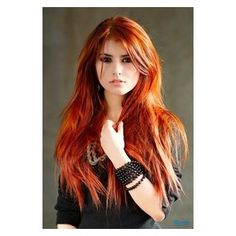 Super-Long Red Hair Style