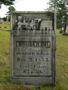 A railroad man ~ Greenridge Cemetery, Saratoga Springs, New York