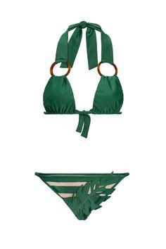 Bikini Pool, High Leg Bikini, Sewing Lingerie, Jolie Lingerie, Bikini Inspiration, Fashion Inspiration, Adriana Degreas, Cult, Green Bikini