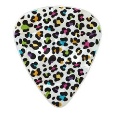 Animal print pattern pearl celluloid guitar pick - patterns pattern special unique design gift idea diy