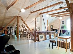 Wish my attic looked like this instead of the huge junk heap it currently resembles!