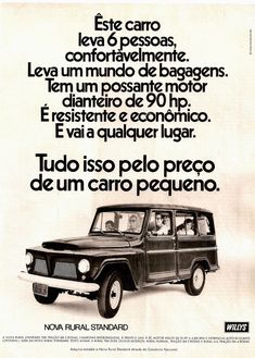 Ford Rural, Rural Willys, Ford Zephyr, Ford Sierra, Ford Maverick, Fiat Abarth, Ford Galaxie, Vw Passat, Rolls Royce