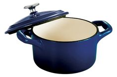Tramontina Enameled Cast Iron Covered Mini Cocotte, 10.5-Ounce, Gradated Cobalt >>> See this great product.