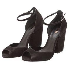 Sandália classic salto grosso - preto