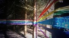 Magical ranbow CraftBomb with recycled material from Penicuik Community Arts