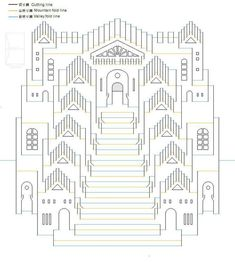 740 824 564 628 pop up architecture kirigami origamic architecture Kirigami Patterns, Kirigami Templates, Pop Up Card Templates, Origami And Kirigami, Card Patterns, Origami Paper, Kirigami Tutorial, Doll Patterns, Arte Pop Up