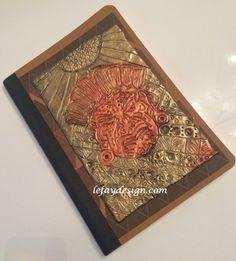 Mayan Mask  Polymer Clay Notiz/Tagebuch Unikat von leFayDesign