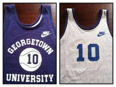 NIKE GEORGETOWN Jersey Vintage CHAMPION 80's by sweetVTGtshirt Georgetown Basketball, Basketball Jersey, Nike Gear, Vintage Jerseys, Vintage Champion, Number 10, Vintage Nike, Jersey Shirt, Tank Man