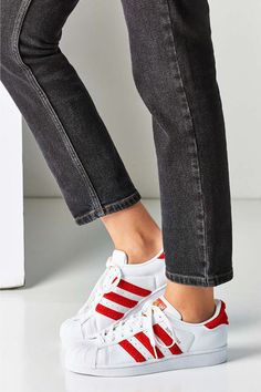 Athletic sneakers are every cool-girl's way of making a majorly stylish outfit look perfectly casual. Throw them on with cropped denim or your favorite girly dress.Adidas Originals Chenille Superstar Sneaker, $85, urbanoutfitters.com
