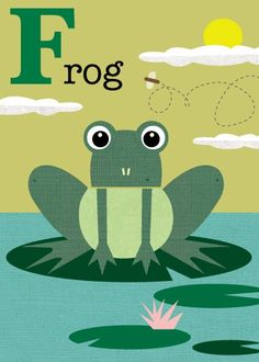 Letter F frog by JennSki on Etsy