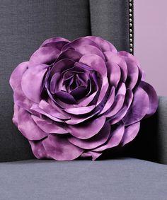 Purple Rose Throw Pillow | zulily