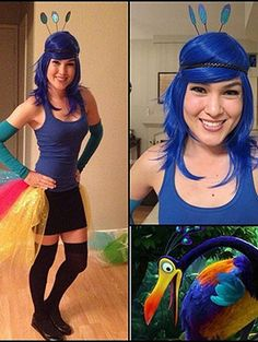 Disney Character Costume Kevin — Up Halloween costume - Pixar movies make us cry, make us want to know little details about the company, and, around this time of year, make us want to dress up as the beloved Disney Characters Costumes, Disney Halloween Costumes, Up Costumes, Costume Ideas, Pixar Costumes Diy, Homemade Disney Costumes, Adult Disney Costumes, Clever Costumes, Woman Costumes