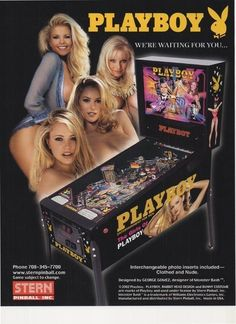 Playboy Pinball Arcade Flyer by Stern Low Shipping The Girls of Free USA SHIP   eBay