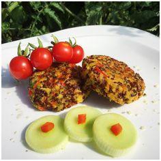 Chiftelute de quinoa cu dovlecel si ardei gras