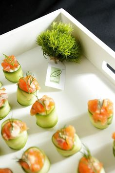 Corporate catering, cocktail canapes, catering by Bay Leaf Catering