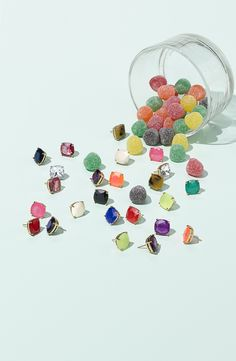 Yummy little ear candy! These Kate Spade small square stud earrings complete every outfit.