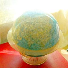 Vintage World Globe National Geographic Society World Globe 1962 Lucite Stand Eames Era Perfect for your library or office. A vintage Eames era