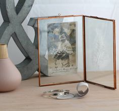 I've just found Small Vintage Style Copper Double Photo Frame. An elegant, vintage style copper double photo frame to take pride of place on your shelf. Copper Photo Frame, Double Photo Frame, Ornate Picture Frames, Copper Frame, Photo Picture Frames, Picture On Wood, Hair Keepsake, Contemporary Frames, Shabby Chic Frames