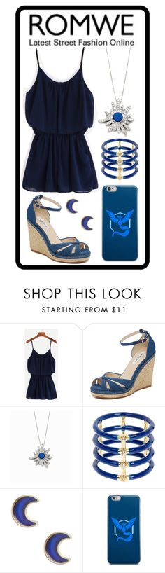 """337: Blue Romwe"" by alinepelle ❤ liked on Polyvore featuring L.K.Bennett, Stephanie Deydier, Elizabeth and James, claire's and Valor"