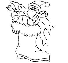 coloring pages santa boots  Santa Boots Clipart Black And White