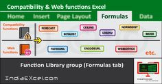 Compatibility Web button functions Function Library group MS Excel - http://indiaexcel.com/compatibility-web-button-functions-excel/