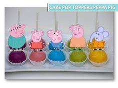 Peppa Pig Cake Pop Toppers Peppa pig party peppa pig cupcake