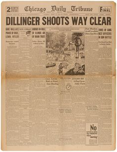Dillinger Shoots Way Clear
