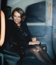 British Actresses, Black Tights, Leather Skirt, Yellow, Celebrities, Fashion, Black Stockings, Moda, Leather Skirts