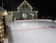 Oh my...I want a rink in my backyard.
