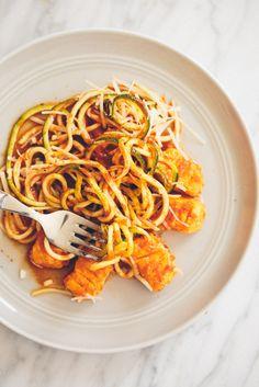 Homemade Gluten-Free Gnocchi with Pomodoro Zucchini Pasta - Weight Watchers SmartPoints: 9 points