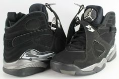 8602a46fa59 Nike Air Jordan Retro 8 VIII Chrome Black White Size 9 305381-003 #fashion
