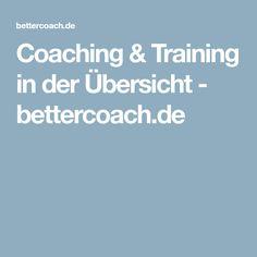 Coaching & Training in der Übersicht - bettercoach.de