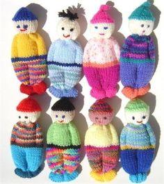 PDF Version Comfort Doll Knitting Pattern Easy to Make 5 Inch knitted Pocket Doll. $6.00, via Etsy.