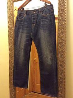 Ed Hardy men's jeans, Size: 34,  36X32, 100% Cotton, Made in PRC #EdHardyRelaxed #EdHardy #Relaxed #EdHardyJeans #Jeans #MensJeans #Mens #Size36x32